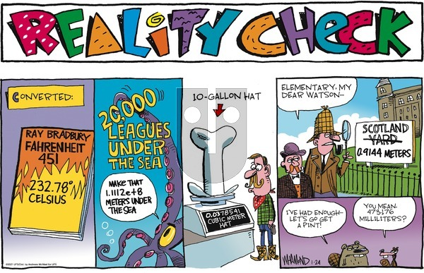 Reality Check on Sunday January 24, 2021 Comic Strip