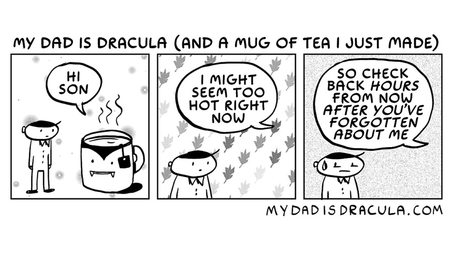 My Dad is Dracula Comic Strip for January 03, 2021