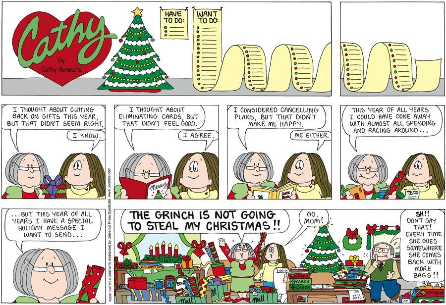 Cathy for Dec 9, 2012 Comic Strip