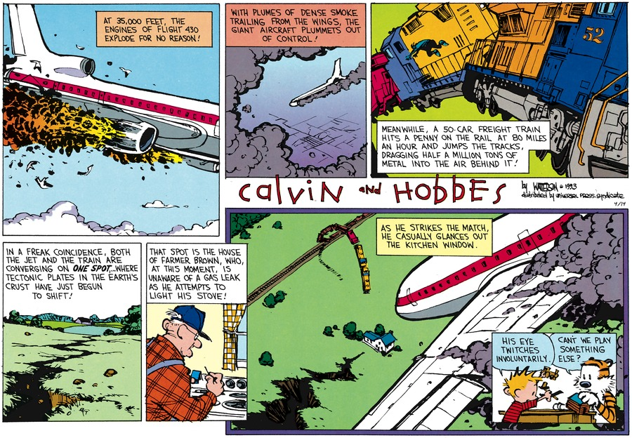 Calvin and Hobbes Comic Strip for April 14, 2013