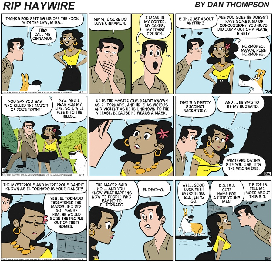 Rip Haywire Comic Strip for March 28, 2021