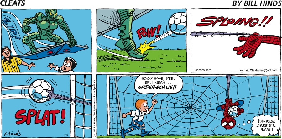 Cleats Comic Strip for July 07, 2002