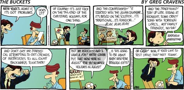 The Buckets on Sunday January 1, 2017 Comic Strip