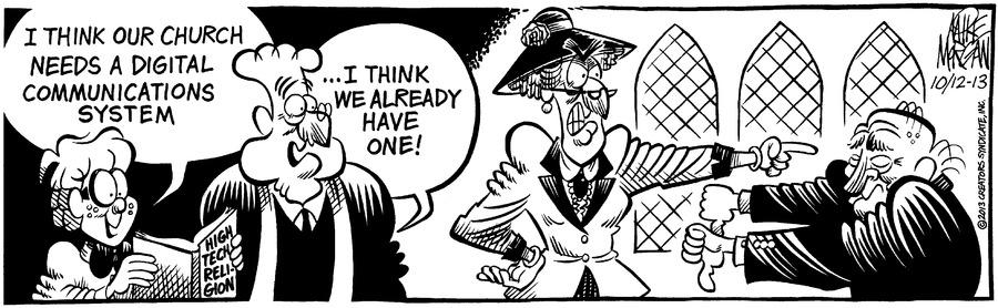 For Heaven's Sake for Oct 13, 2013 Comic Strip