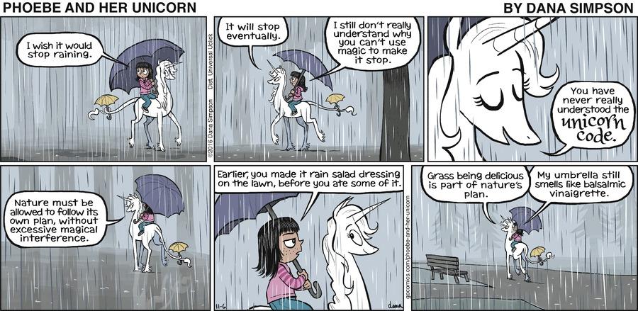 Phoebe and Her Unicorn for Nov 6, 2016 Comic Strip