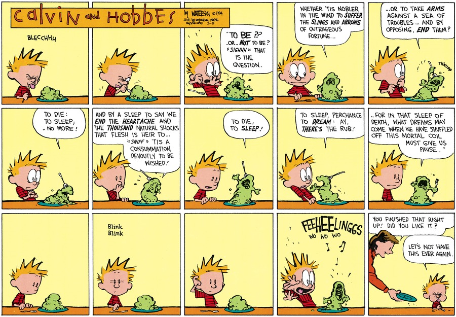 Calvin and Hobbes Comic Strip for March 09, 2014
