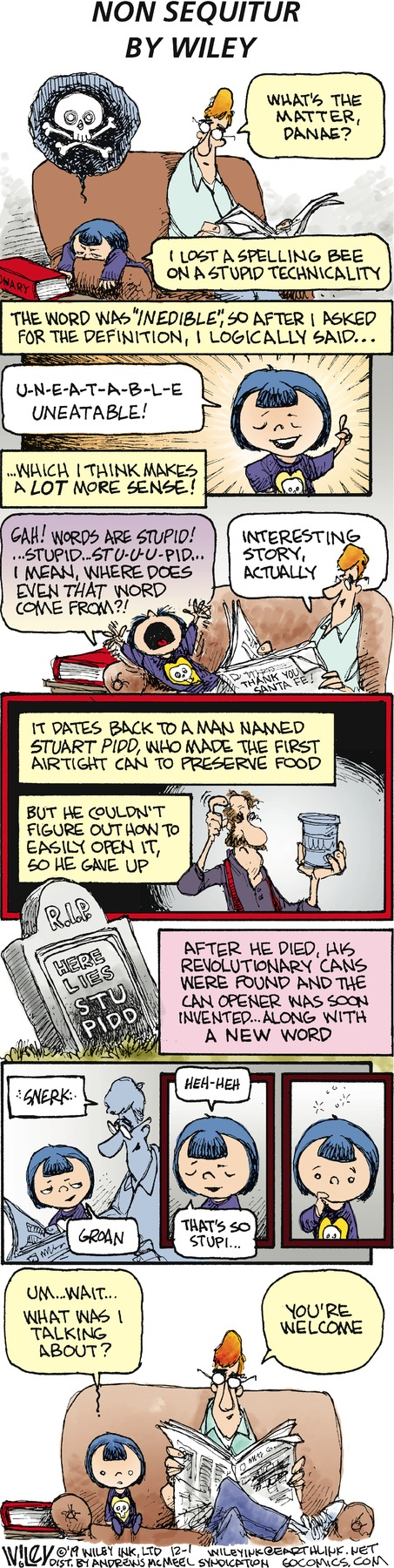 Non Sequitur Comic Strip for December 01, 2019