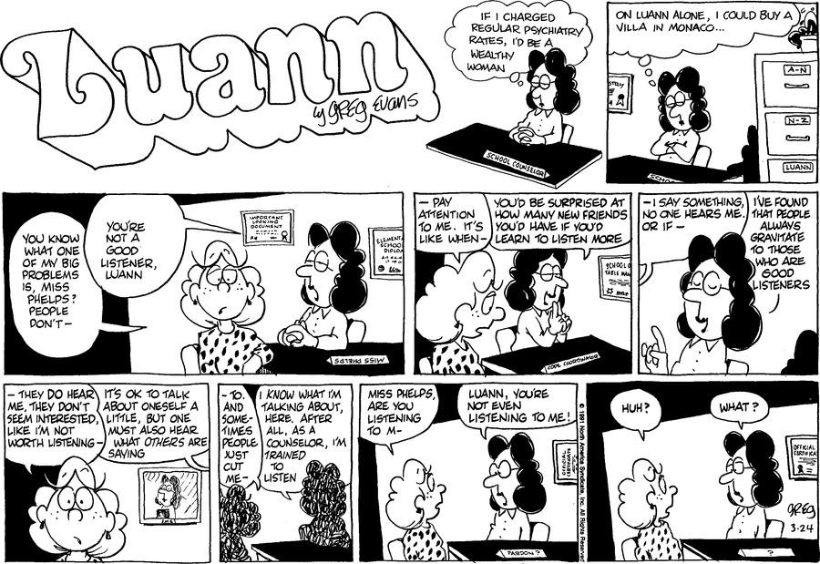 Luann Againn by Greg Evans for March 24, 2019