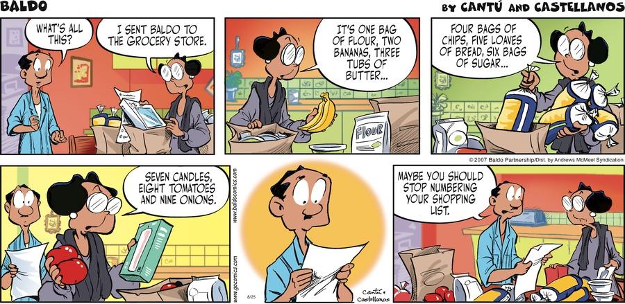 Baldo Comic Strip for August 25, 2019