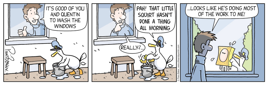 Ollie and Quentin for Feb 7, 2013 Comic Strip
