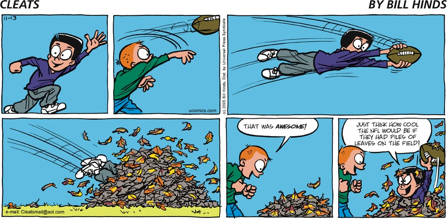 Cleats Comic Strip for November 13, 2005