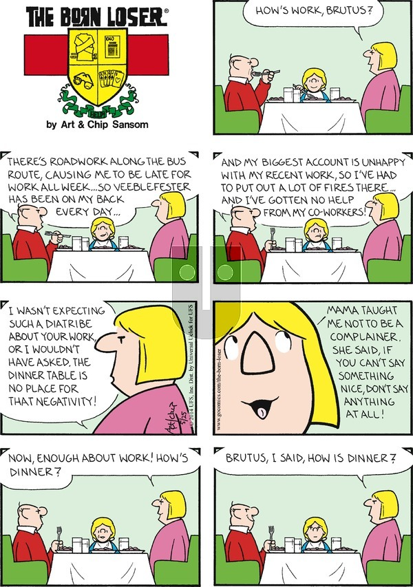 The Born Loser on Sunday May 25, 2014 Comic Strip