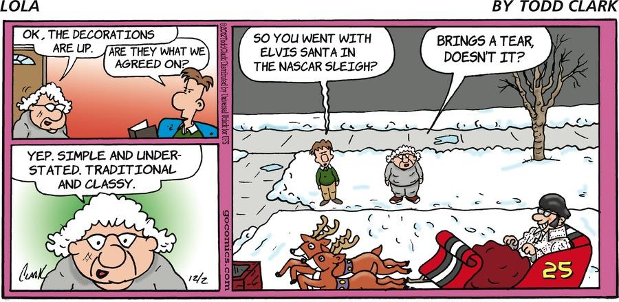 Lola for Dec 2, 2012 Comic Strip