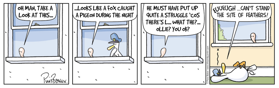 Ollie and Quentin for Feb 8, 2013 Comic Strip