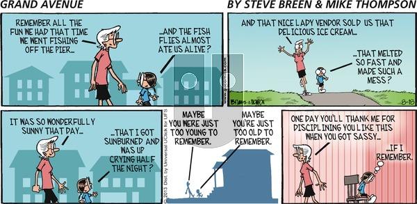 Grand Avenue on Sunday August 18, 2013 Comic Strip