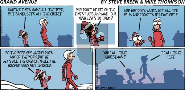 Grand Avenue on Sunday December 6, 2015 Comic Strip