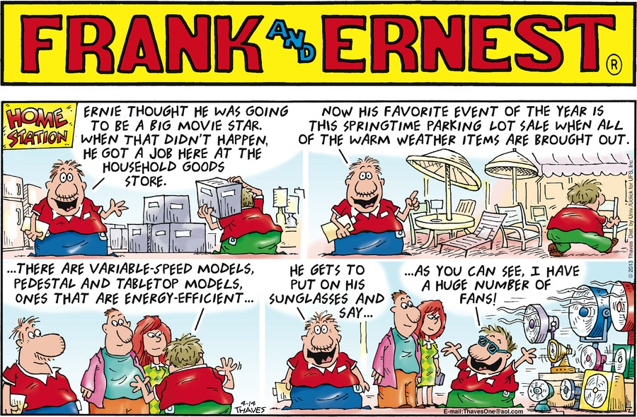 Frank and Ernest Comic Strip for April 14, 2013
