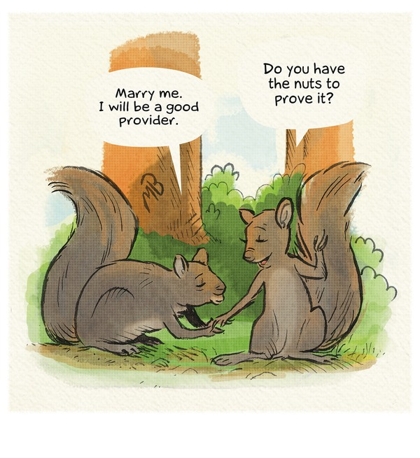 Squirrel marriage