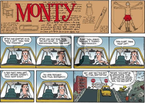 Monty on Sunday July 5, 2015 Comic Strip