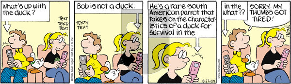 Drabble on Thursday August 27, 2009 Comic Strip