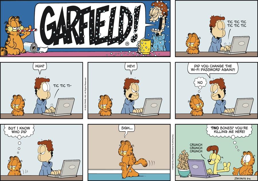 Garfield Comic Strip for September 06, 2020