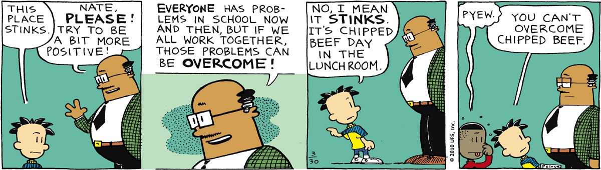 Big Nate Comic Strip for March 30, 2010