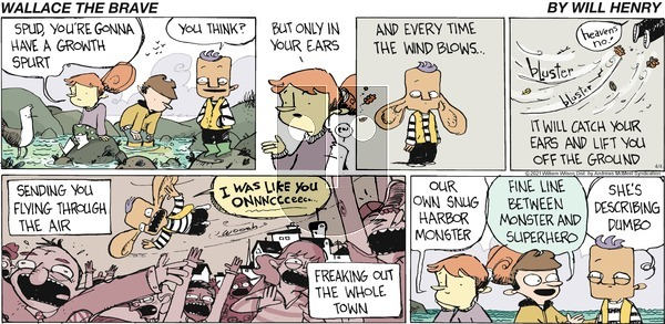 Wallace the Brave on Sunday April 4, 2021 Comic Strip