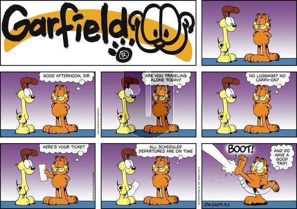 Garfield - Sunday September 2, 2012 Comic Strip
