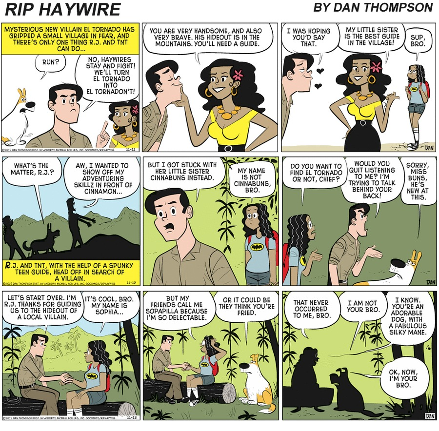 Rip Haywire Comic Strip for April 04, 2021