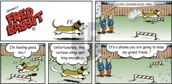 Fred Basset - Sunday March 8, 2020 Comic Strip