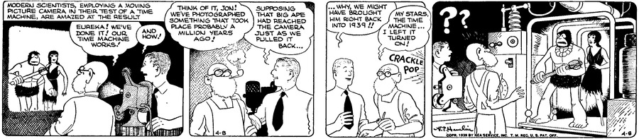 Alley Oop Comic Strip for April 08, 1939