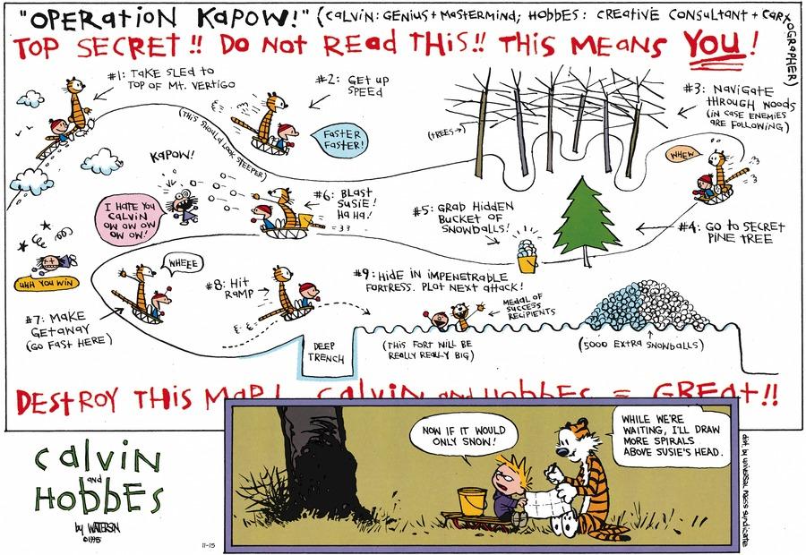Calvin and Hobbes Comic Strip for November 15, 2015