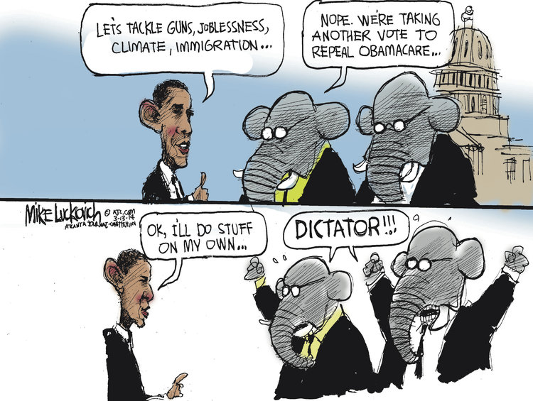 Mike Luckovich for Mar 13, 2014 Comic Strip