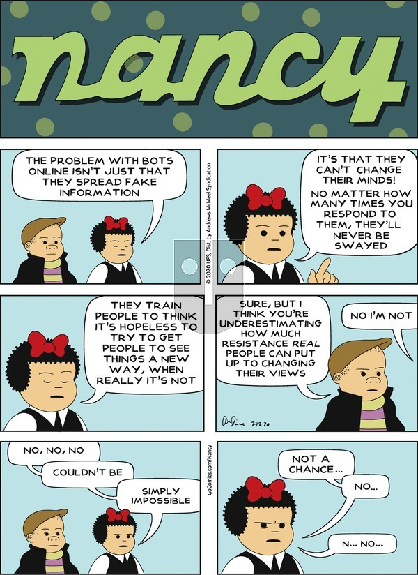 Nancy on Sunday July 12, 2020 Comic Strip