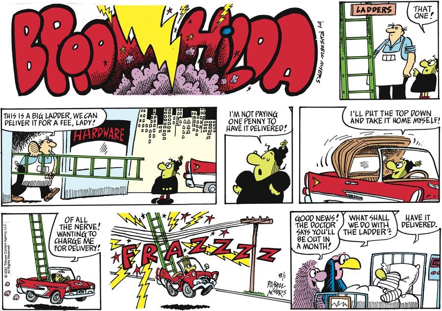 Broom Hilda Comic Strip for August 01, 2021