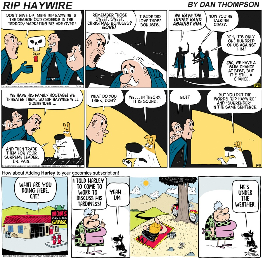 Rip Haywire Comic Strip for October 18, 2020