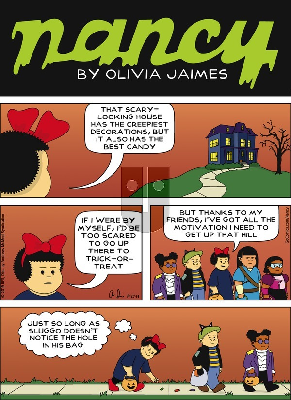 Nancy on Sunday October 27, 2019 Comic Strip