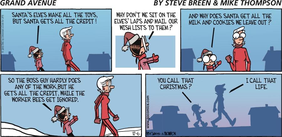 Grand Avenue Comic Strip for December 06, 2015