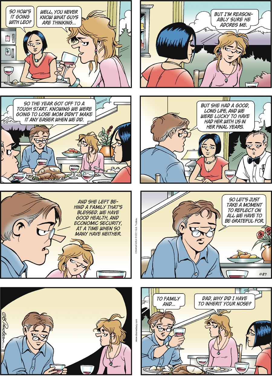 Doonesbury Comic Strip for November 27, 2011