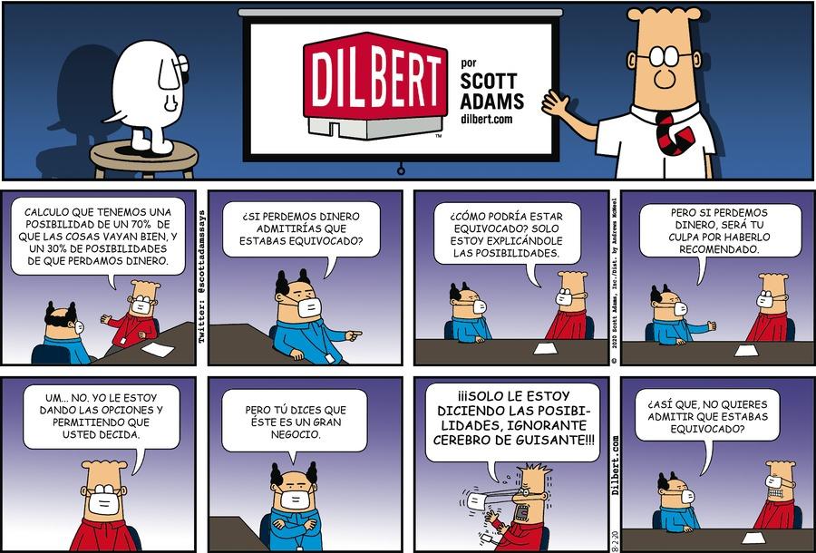 Dilbert en Español Comic Strip for August 02, 2020