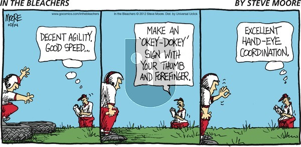 In the Bleachers on Sunday October 14, 2012 Comic Strip