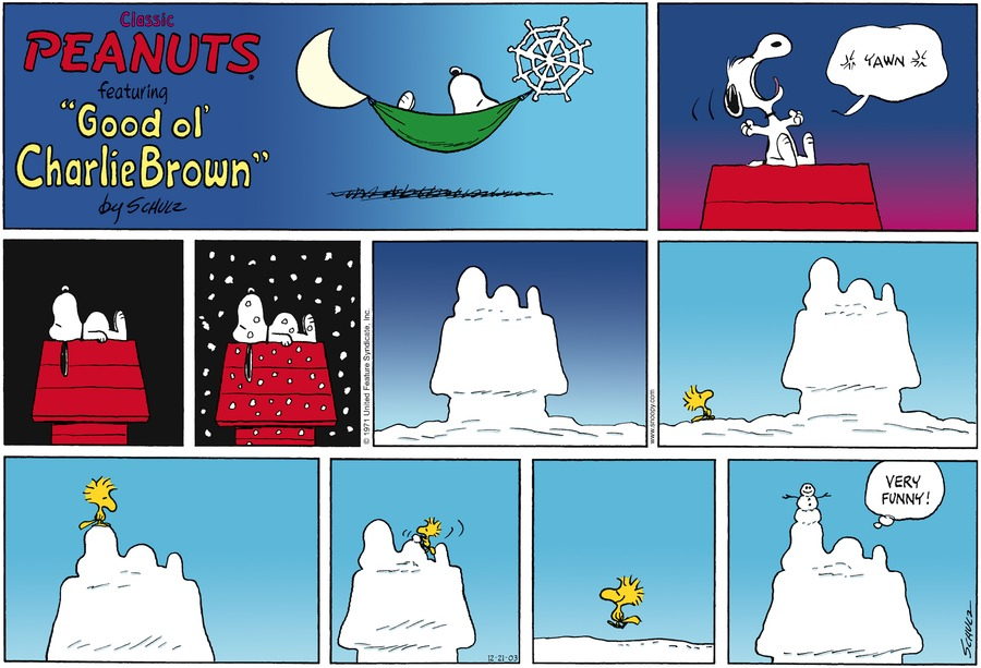Peanuts Comic Strip for December 21, 2003
