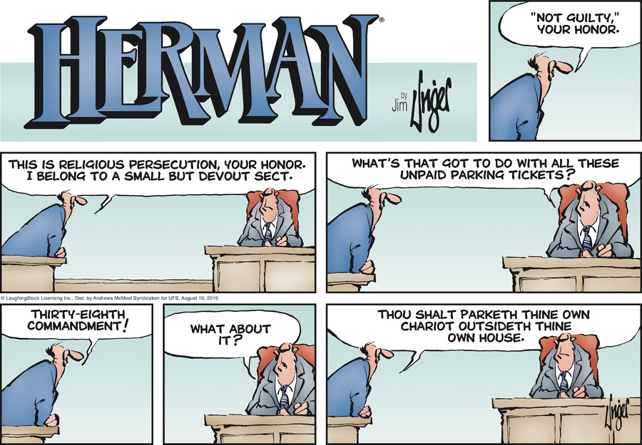 Herman Comic Strip for August 18, 2019