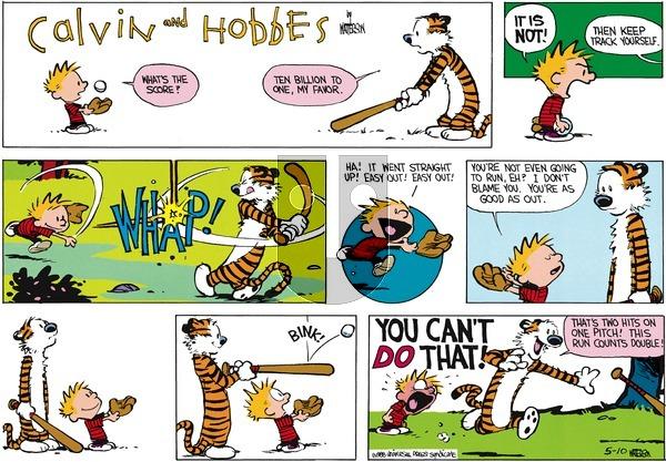 Calvin and Hobbes - Sunday June 19, 1988 Comic Strip