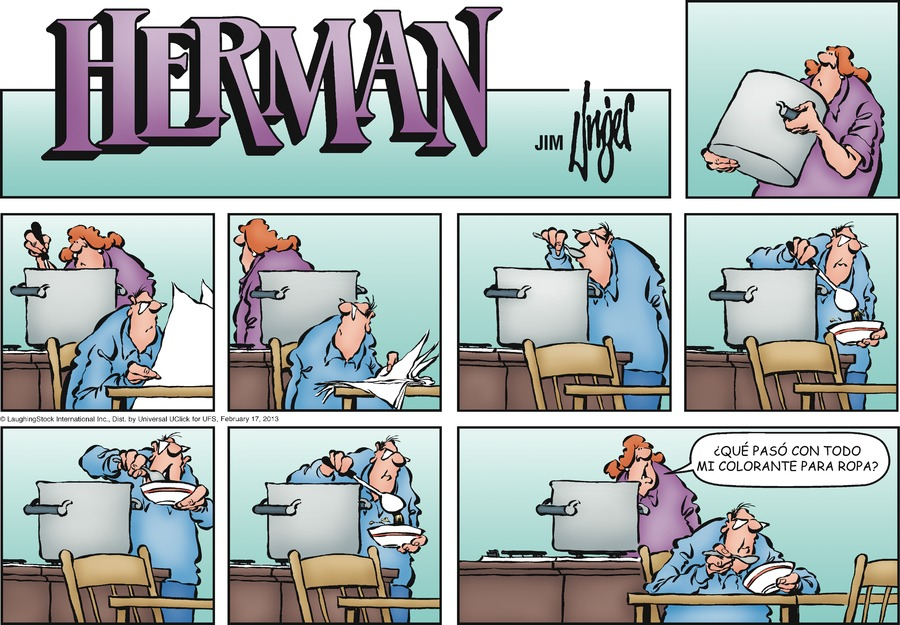 Herman en Español for Feb 17, 2013 Comic Strip