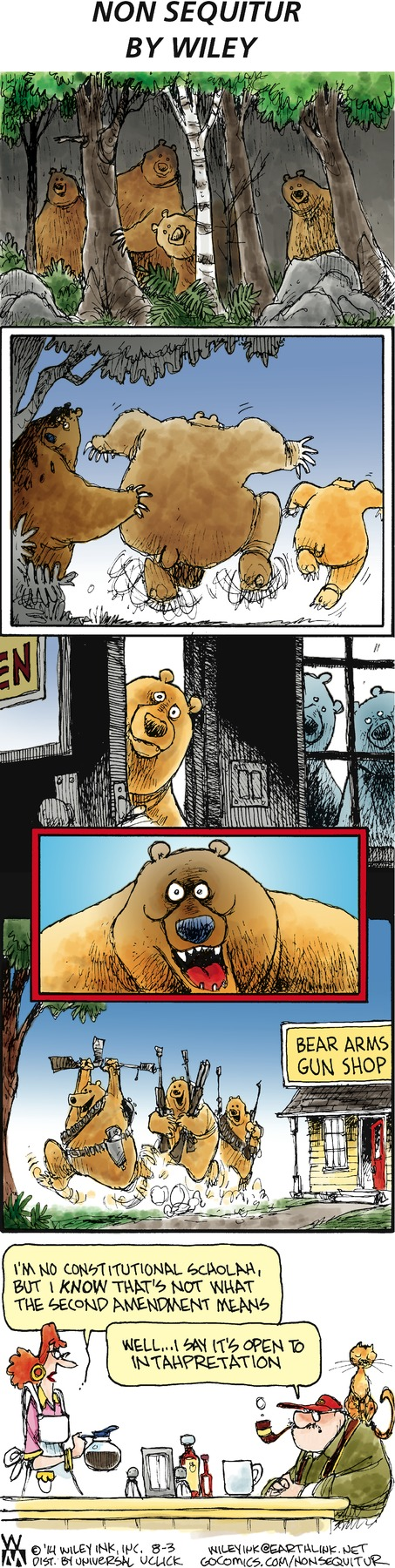 Non Sequitur Comic Strip for August 03, 2014