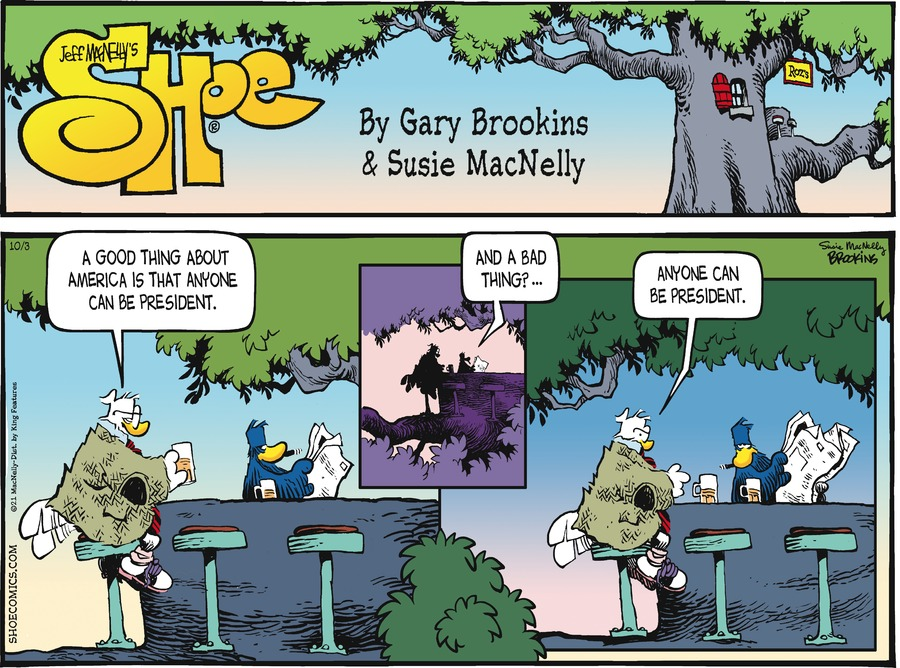 Shoe by Gary Brookins and Susie MacNelly on Sun, 03 Oct 2021