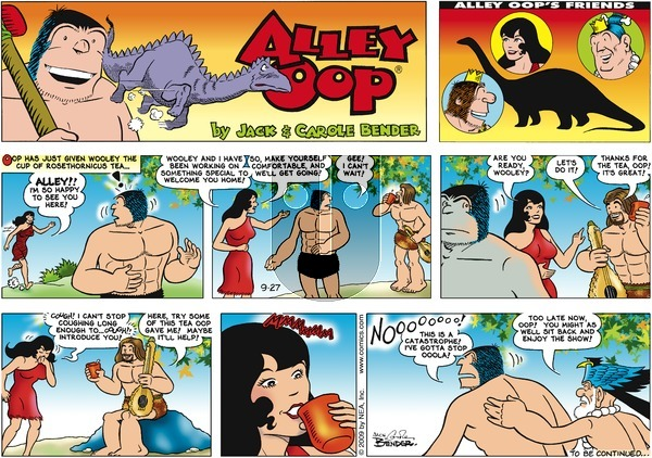 Alley Oop on Sunday September 27, 2009 Comic Strip