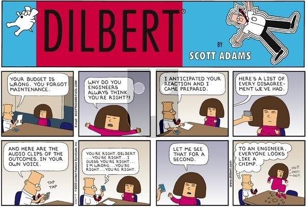 Dilbert - Sunday February 2, 2003 Comic Strip