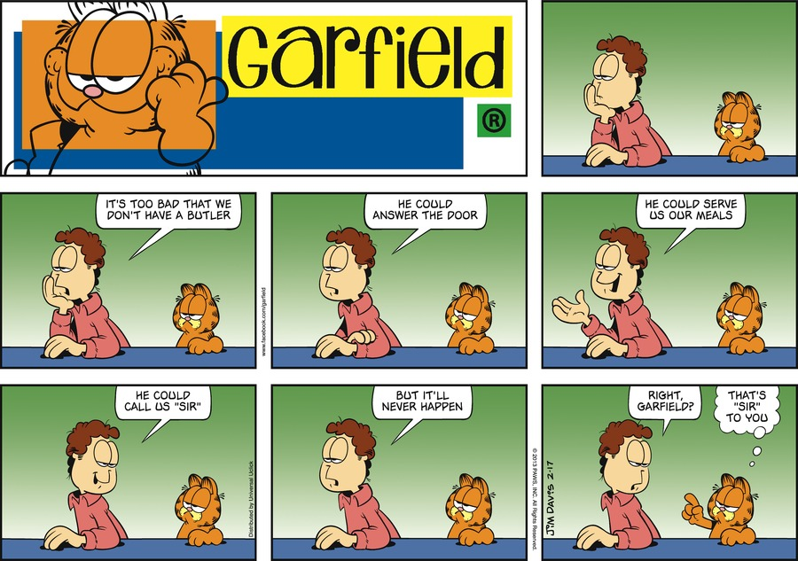 Garfield for Feb 17, 2013 Comic Strip